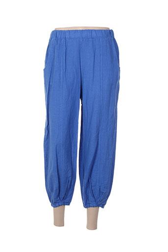 Pantalon casual bleu ET SI.... pour femme