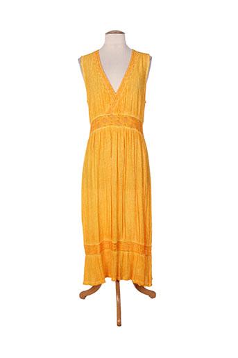 Robe mi-longue jaune ET SI.... pour femme