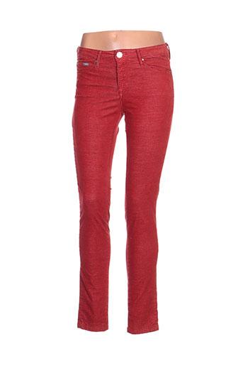 islow pantalons femme de couleur rouge