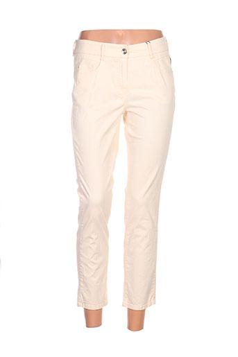 gardeur pantalons femme de couleur jaune