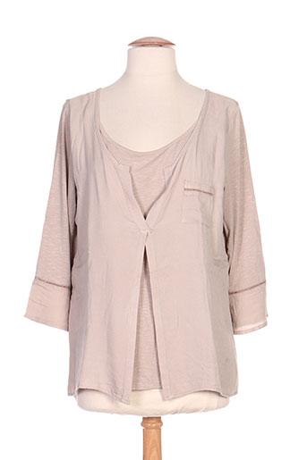 chatelet chemises femme de couleur beige