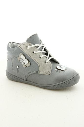minibel chaussures fille de couleur gris