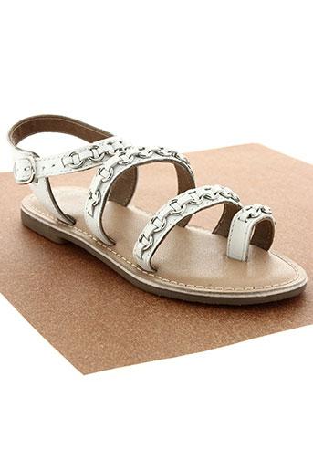 little marcel chaussures fille de couleur blanc