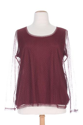 mellem chemises femme de couleur rouge