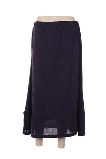 Jupe longue violet ELIE BONNIE pour femme