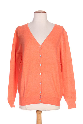 l.s mode gilets femme de couleur orange
