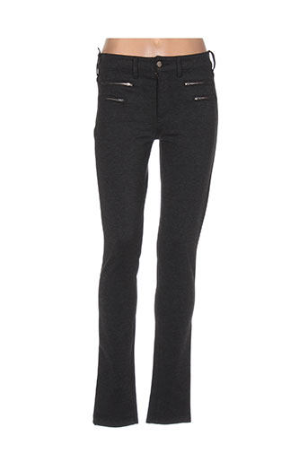 desgaste pantalons femme de couleur gris