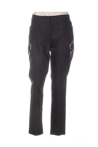 bleu d'azur pantalons femme de couleur noir