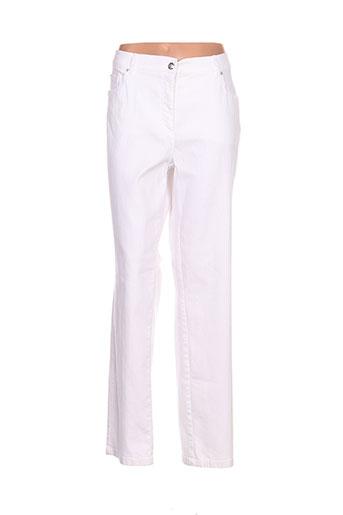 zaffiri pantalons femme de couleur blanc