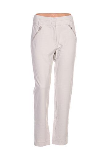 laurel pantalons femme de couleur beige