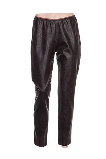 devotion pantalons femme de couleur marron