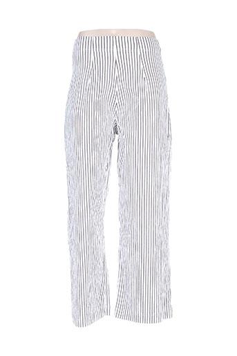 Pantalon casual blanc BLACK LABEL pour femme