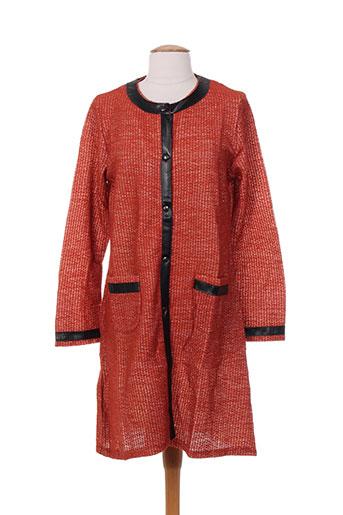 maloka vestes femme de couleur orange