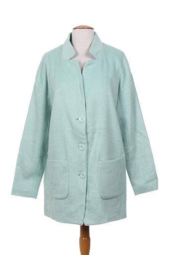 fransa vestes femme de couleur vert