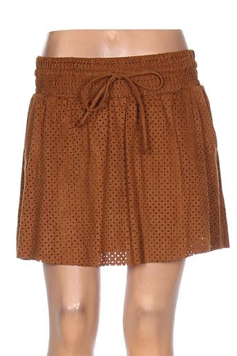 morgan jupes femme de couleur marron