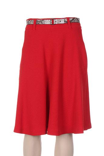 marela jupes femme de couleur rouge