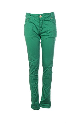 artigli pantalons femme de couleur vert