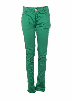 Pantalon casual vert ARTIGLI pour femme