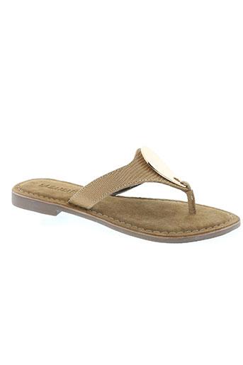 lazamani chaussures femme de couleur beige