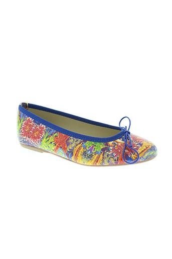 zona centro chaussures femme de couleur bleu