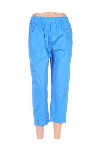h-3 pantacourts femme de couleur bleu