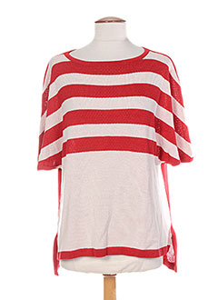 Pull col rond rouge COLEEN BOW pour femme