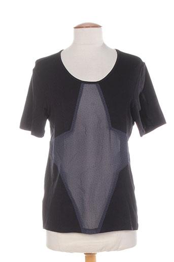 T-shirt manches courtes noir COLEEN BOW pour femme