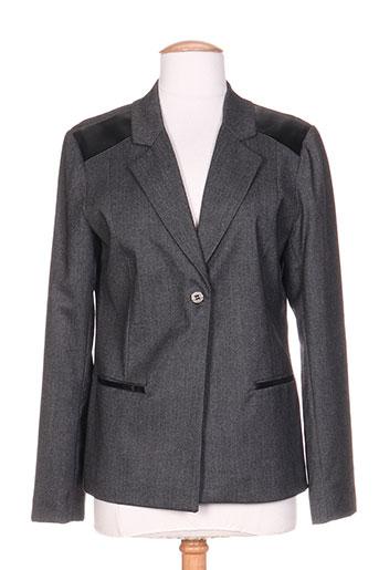 Veste casual gris COLEEN BOW pour femme