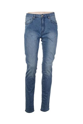 ean 13 jeans femme de couleur bleu