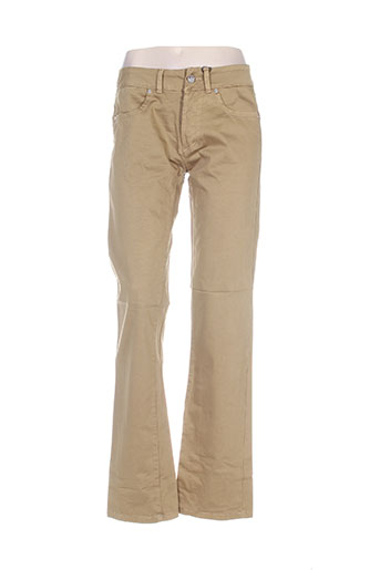 mybo pantalons femme de couleur jaune