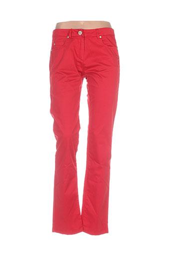 mybo pantalons femme de couleur rouge