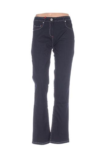 mybo pantalons femme de couleur bleu
