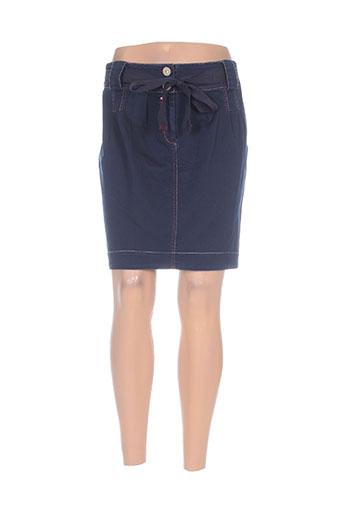 mybo jupes femme de couleur bleu