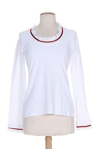 mybo t-shirts femme de couleur blanc