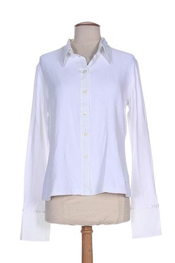 mybo chemises femme de couleur blanc