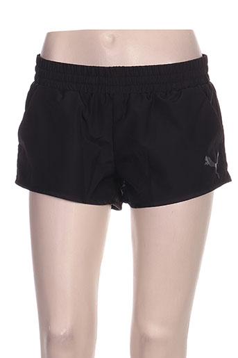 puma shorts / bermudas femme de couleur noir