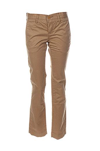 teddy smith pantalons garçon de couleur marron