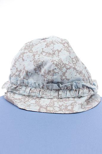 Chapeau bleu 3 POMMES pour fille