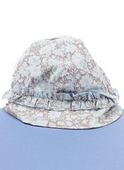 Chapeau bleu 3 POMMES pour fille seconde vue