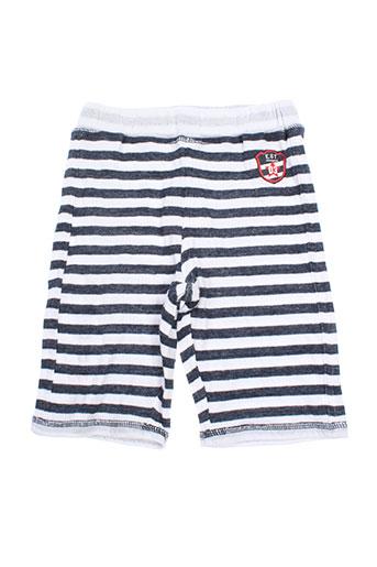 3 pommes shorts / bermudas garçon de couleur blanc