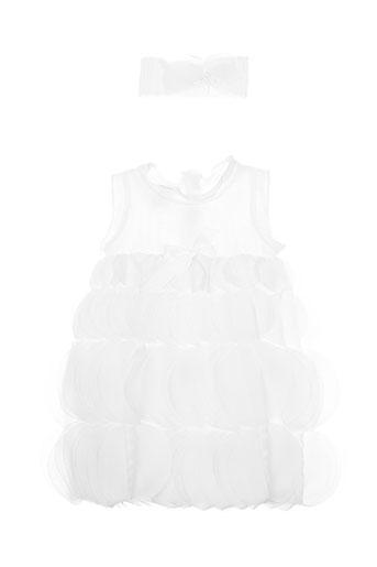 Robe mi-longue blanc SAFER BABY pour fille