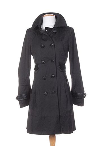 osley manteaux femme de couleur noir