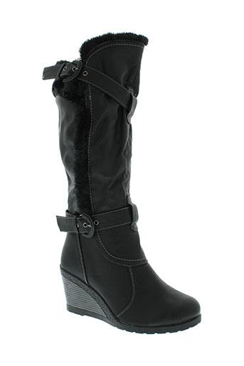 l'emotion chaussures femme de couleur noir