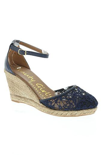 beauty girl's chaussures femme de couleur bleu