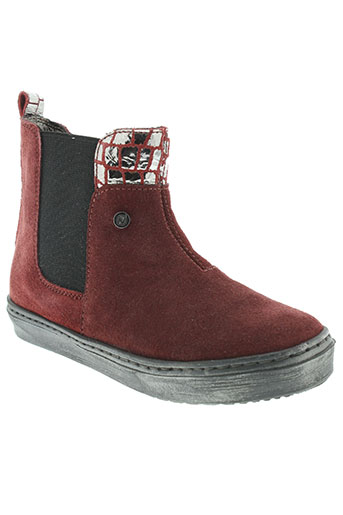 naturino chaussures fille de couleur rouge