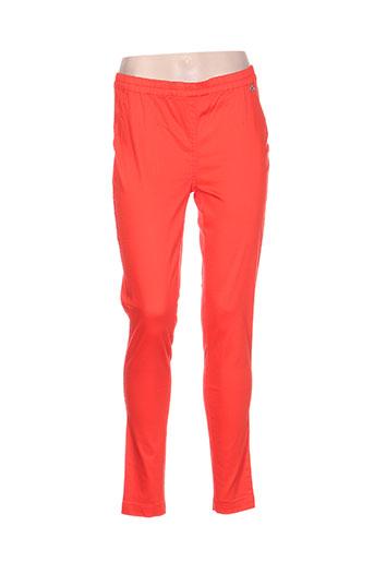 les filles de neaux pantalons femme de couleur orange