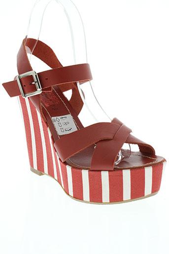 mercante di fiori chaussures femme de couleur rouge