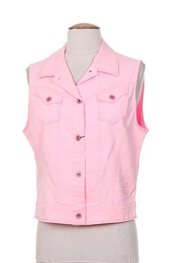 jocavi gilets femme de couleur rose