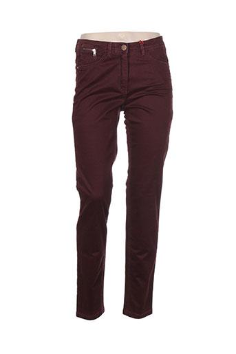 jocavi pantalons femme de couleur rouge