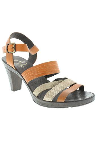 karston chaussures femme de couleur orange
